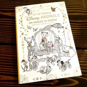 Disney Art of Coloring Disney Animals 100 Book NEW